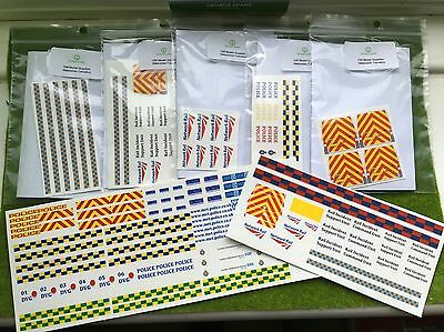 Waterslide Decals/Transfers Code 3- Large Pack- Network Rail, Police, Ambulance • 44.07€