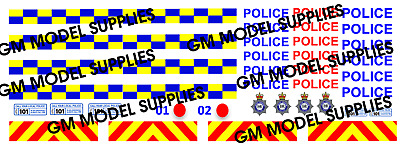 00 1:76 Waterslide Transfers Code 3 Ford Transit SWB- Police Livery • 4.24€