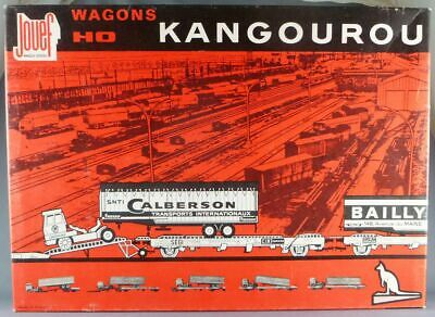 Jouef 664 Ho Sncf Coffret Kangourou 2 Wagons Remorques Routières Bailly Calberso • 126€