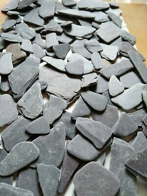 Vintage Beach Sea Tumbled Slate 1.8kg SMOOTH RARE Pieces ART & CRAFTS  • 22.44€