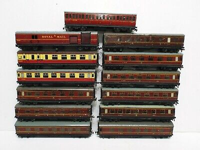 Hornby Dublo 2-3 Rail Job Lot Of 13 X Coaches Used  Unboxed (c566) • 76.08€