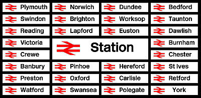 BR Station Decal Stickers Signs Magnets All Stations Made Any Size Weatherproof • 27.95€