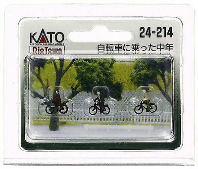 KATO 24-214 N Scale Gauge Diorama 3 Personnages à Vélo Bike Train Decor Diorama • 24.90€