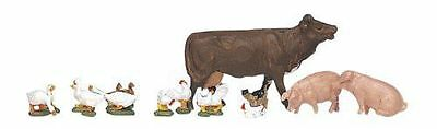 KATO 24-219 N Scale Gauge Diorama Animaux De La Ferme Train Decor Farm Animals • 24.90€