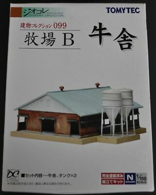 TOMYTEC 099 N Scale 1/150 Stock Farm Building Barn Train Decor Bâtiment Grange • 39.90€