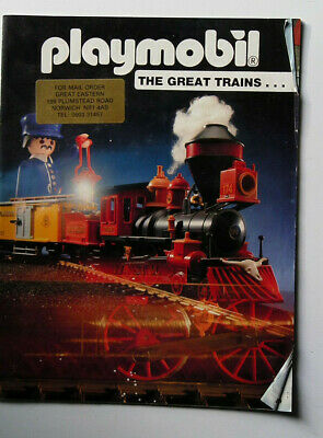Playmobil The Great Trains Catalogue 1991 Good Condition • 1.11€