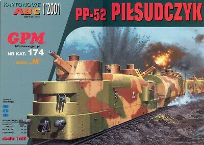Armored Train PP-52 Pilsudczyk  1/25 Scale Model Kit (prepainted) Length: 395 Cm • 34.68€