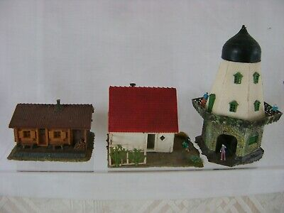 Super Kits 3 Assorted Ready Built Buildings All Good Con. In A Good Safe Box • 22.46€