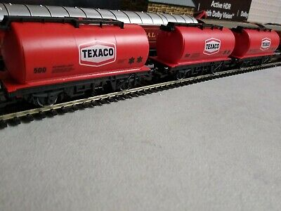 3 Hornby Texaco R231 Tanker Wagons 00 Gauge Vgood Condition. • 23.58€