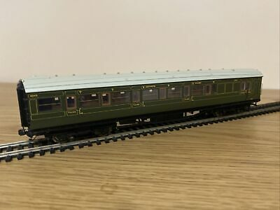 Hornby R4300b Sr Maunsell Olive 6 Compartment Brake 3rd Coach '4049' - 00 Gauge • 39.31€
