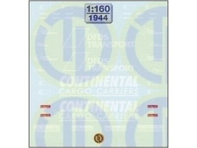 TL-Decals 1944 - Decals DFDS & Continental Cargo Carriers  Decalbogen - Spur N • 11.67€