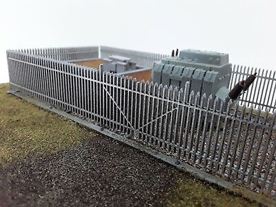 Laser Cut OO/HO Gauge Security Fence Pack Of 4 Sections Each 200mm New Version • 8.98€