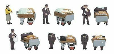 KATO 24-262 N Scale Gauge Diorama People Lunch Vendors 12 Pieces Train Decor • 39.90€