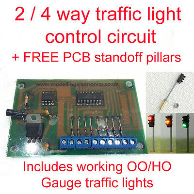 2/4 Way Traffic Light Control Model Railway  HO/OO Gauge Inc Traffic Lights • 27.61€