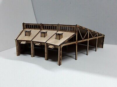 Laser Cut OO Scale Round House Locomotive Shed Various Sizes • 43.74€