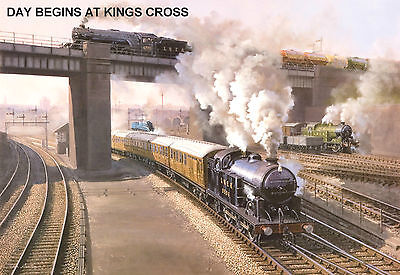 Hornby Dublo In Railway Art  Day Begins At King Cross  No. 11 Signed & Numbered. • 33.52€