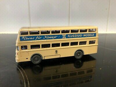 Wiking 1/87 HO/00 Gauge Double Decker Bus Flugzeug Modelle • 4.50€