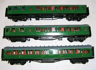 *Rare FINEST RAKE 3 X Lawrence Scale Models SR Southern Electric Trailer Coaches • 133.82€