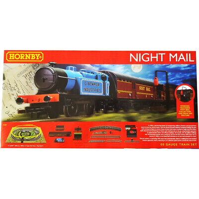 Hornby Royal Mail Night Mail Analogue Train Set Steam Locomotive 1:76 Scale OO • 138.82€