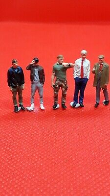Resin Finescale 00 Gauge Figures/people Handpainted Different Age Group Men X 5  • 3.35€