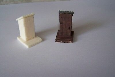 Oo Gauge Four Out Door Old Wooden Style Privy Toilets.unpainted • 3.37€