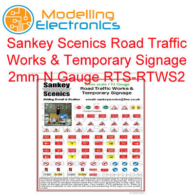 Sankey Scenics Road Traffic Works & Temporary Signage 2mm N Gauge RTS-RTWS2 • 4.85€