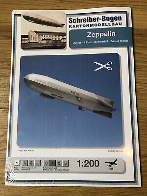 Schreiber-Bogen Card Modelling Zeppelin Junior Model 1:200 **Still Sealed** • 28.89€