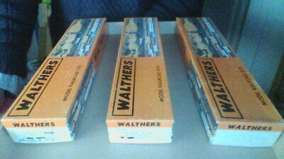 WALTHERS Santa Fe Vintage Wood And Die Cast HO Train Car Kits In Original Boxes • 75€