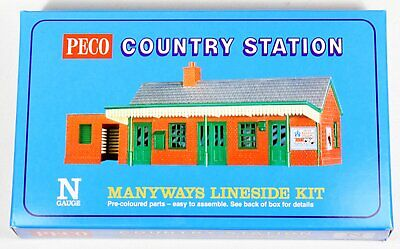 NB-16 Peco N Gauge Platform Shelter, Wooden Type With 2 Huts X 1 BRAND NEW!!!!!! • 19.77€