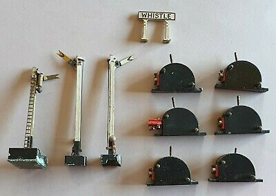 Lot 10 Vintage OO Gauge Trix? Signals Whistle Sign Switches Gantry Model Railway • 1.10€