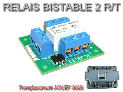 Platine Relais Bistable 2 RT - Remplacement JOUEF 9893 • 7.99€