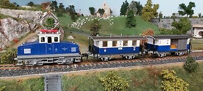 Locomotive Type Boite A Sel A Cremaillere Et Ses 2 Wagons • 21.50€