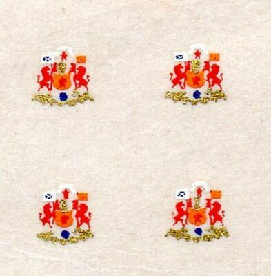 Triang/Hornby Caledonian Single  Splasher Crests  X 4 - ZHH04  • 7.70€