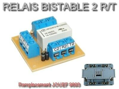 Platine Relais Bistable 2 RT - Remplacement JOUEF 9893 • 8€