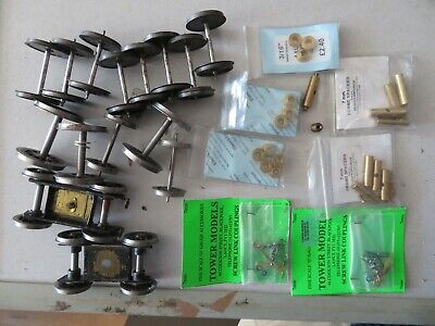 O Gauge Wheels And Bogies Collection Fine Scale Job Lot Various Types • 12.85€