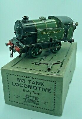 O GAUGE HORNBY TIN PLATE M3 TANK LOCOMOTIVE WORKING ORDER With KEY BOXED • 33.50€