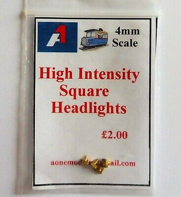 A1 Models 4mm Detailing Parts   High Intensity Square Headlights • 2.26€