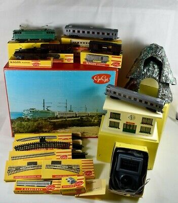 Gege Grand Coffret Train Electrique Aquilon Locomotive  Wagons Gare Tunnel Rails • 195€
