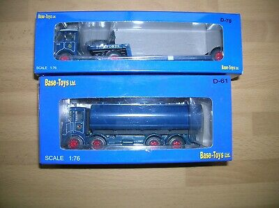 2 Base Toys1:76 (00) Pickfords Lorries; D70 Low Loader + D61 Tanker Mint Boxed • 24.71€