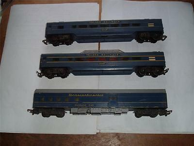 Triang Transcontinental 3 Cars Baggage Car Vistadome 10724 Carriage In Used !!! • 45.09€