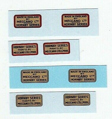 Hornby O Gauge Trade Marks Wagons Etc   4 To Choose From   Waterslide Transfer • 2.51€
