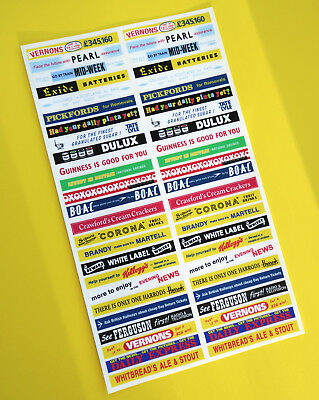 DINKY BUS 290 29c Vintage Advertising CODE 3 Stickers Decals HO OO 76th Scale • 12.07€