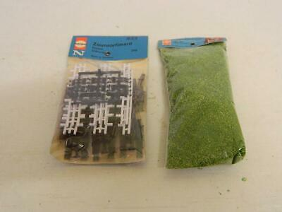 Herpa N Gauge Pack Of Assorted Fences And 1 Pack Of Grass 622 & 70 • 6.72€