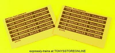 Oo New Spares - 12x Smiths Adhesive Coach Labels - The South Wales Pullman • 3.91€