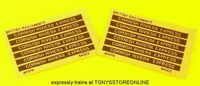 Oo New Spares - 12x Smiths Adhesive Coach Labels - Cornish Riviera Express • 4.01€
