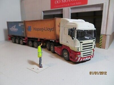 1/76 Code 3 Oxford Diecast Trucks / Skeletal Trailer / Containers • 43.51€