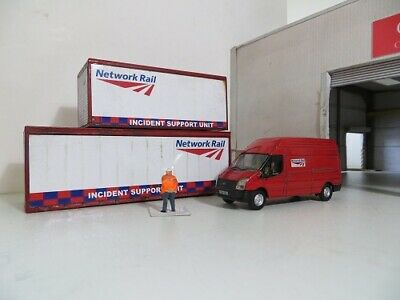 OXFORD DIECAST 1/76 Code 3 Transit & Containers NETWORK RAIL • 22.59€