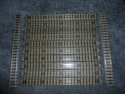12 Hornby Dublo Oo Gauge 3 Rail Full Straight Tracks With Square Connectors • 8.93€