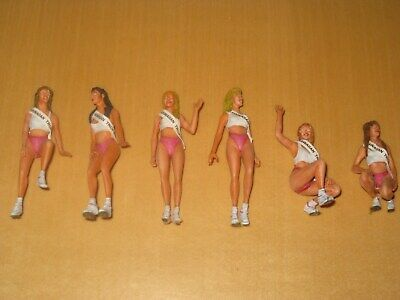 1:24 Hawaiian Tropical Grit Girls Racing - 6 Figures Set Professional Painted • 35€