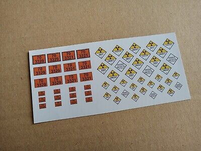 Radioactive Hazchem Labels For OO Accura Scale Bachmann Flask FNA PFA Wagons • 6.12€